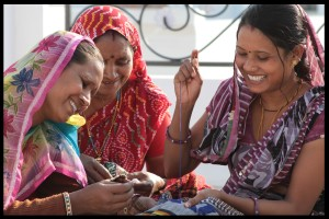 women doing embroidery